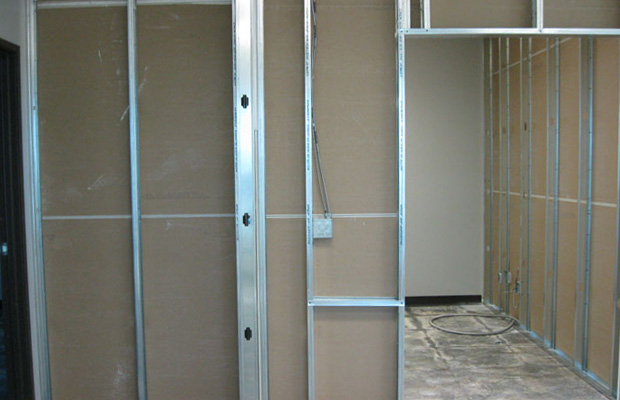 metal stud framing davids drywall commercial residential metal stud framing - Metal Stud Framing